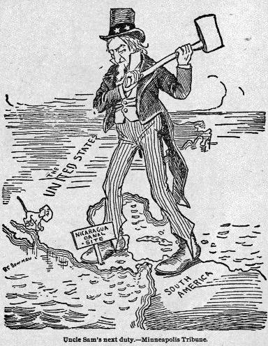 1895 Nicaragua Canal Cartoon