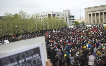 Protests in Baltimore. Photo from fusion.net