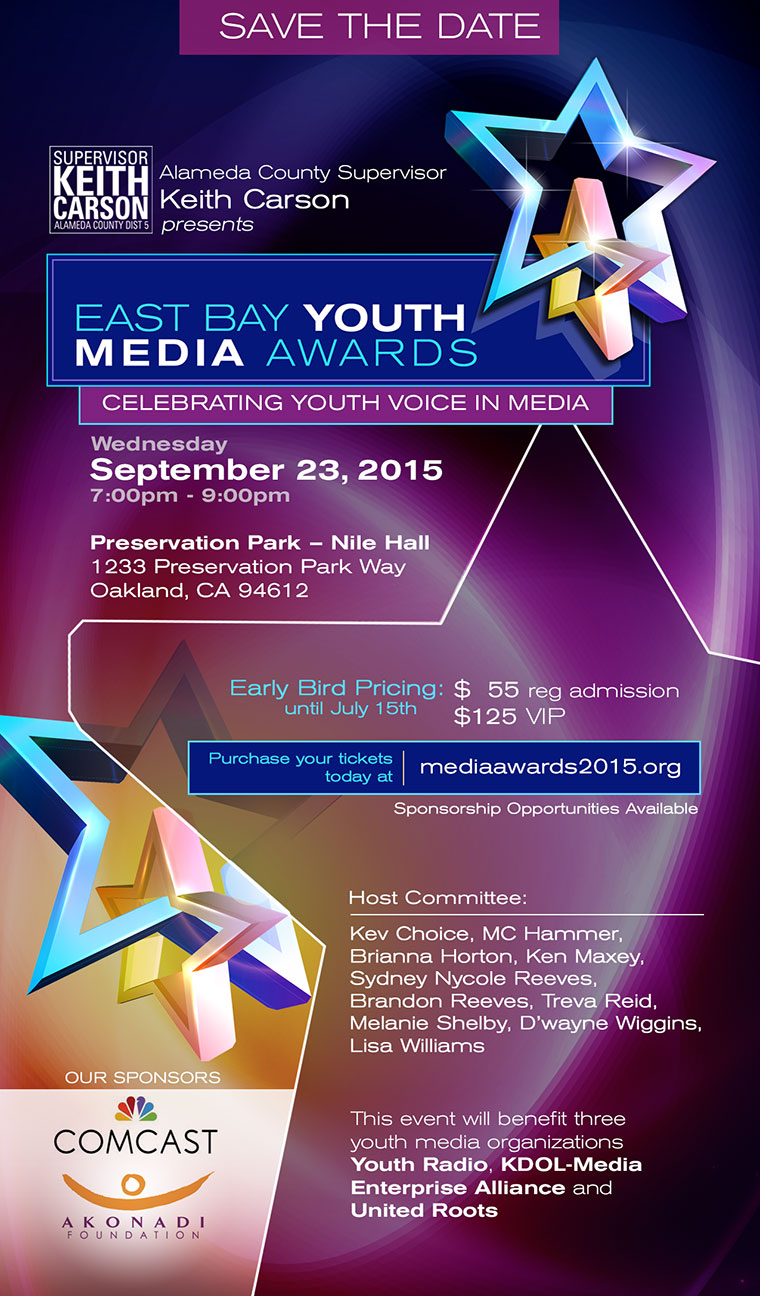 East Bay Youth Media Awards Poster