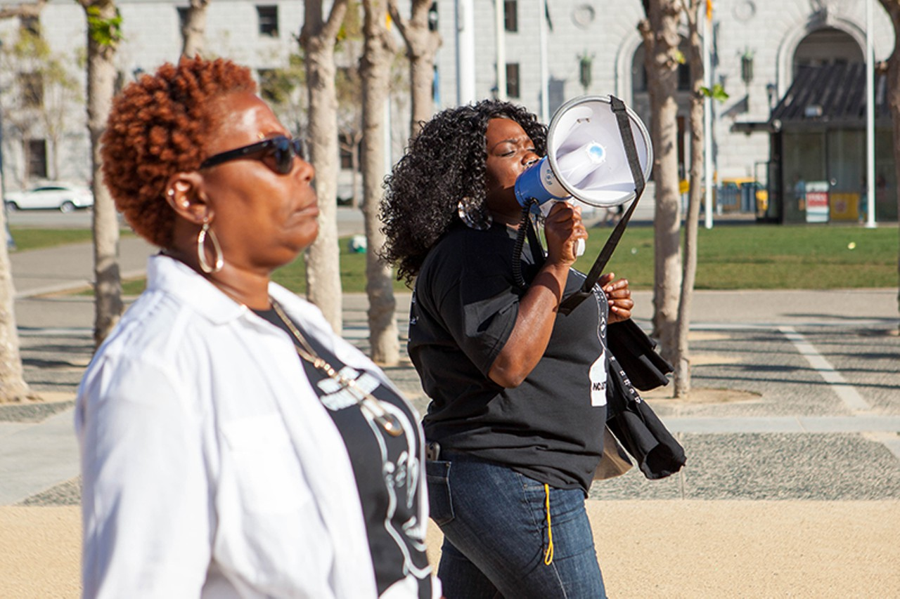 Photo by BERT JOHNSON - Angela Naggie (left) and her daughter Cadine Williams.  Photo from eastbayexpress.com