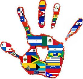 Hand with Flags
