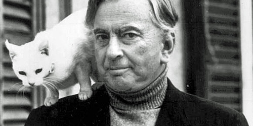Gore Vidal and mascot
