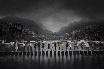 Chen Li, China - Rain in an ancient town