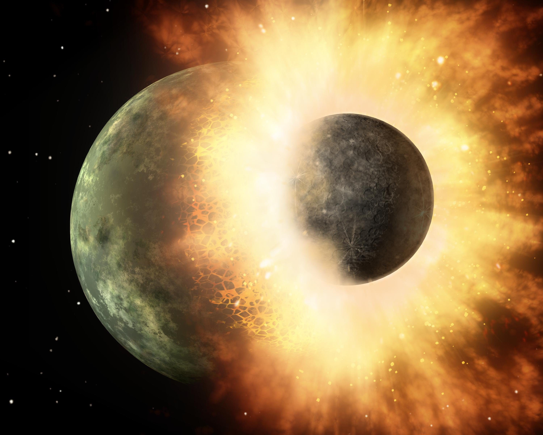 Origen of the Moon