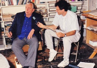 with Gore Vidal, 1990 fb