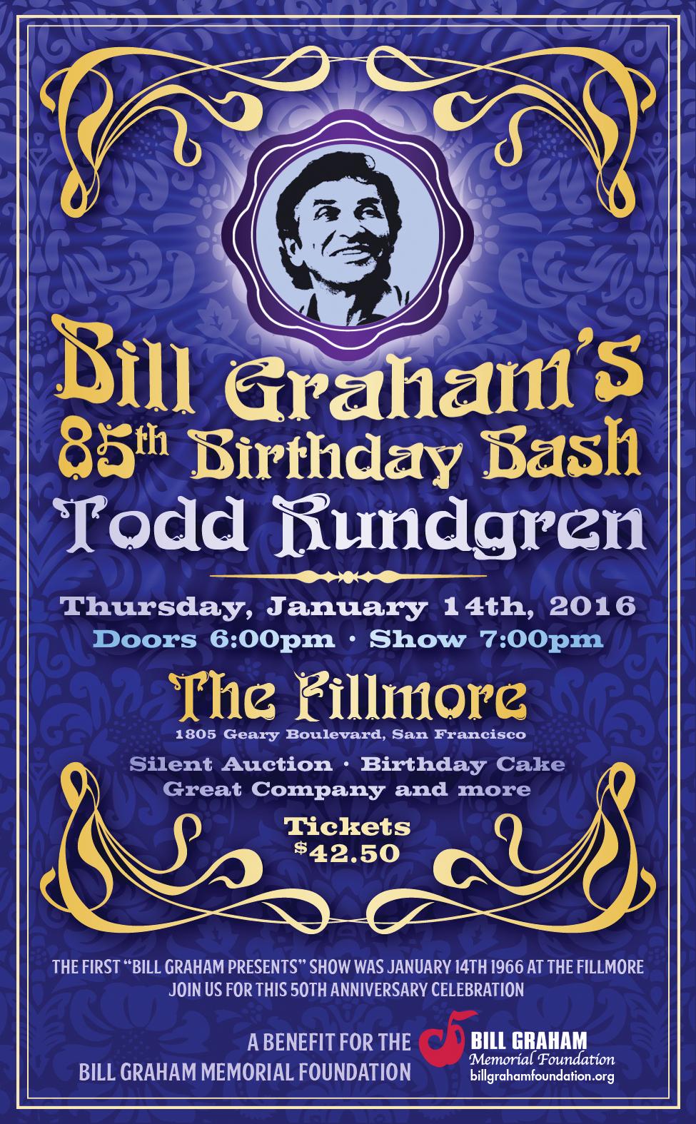 Bill Graham's 85th Birthday Bash