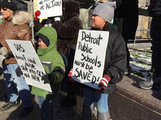 Detroit Teachers Protest
