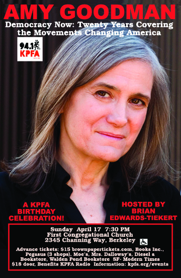 amygoodman in Berkeley