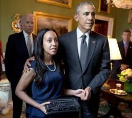Haben with Pres. Obama