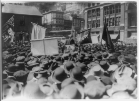 Alexander Berkman addressing a May Day rally in New York's Union Square, 1914