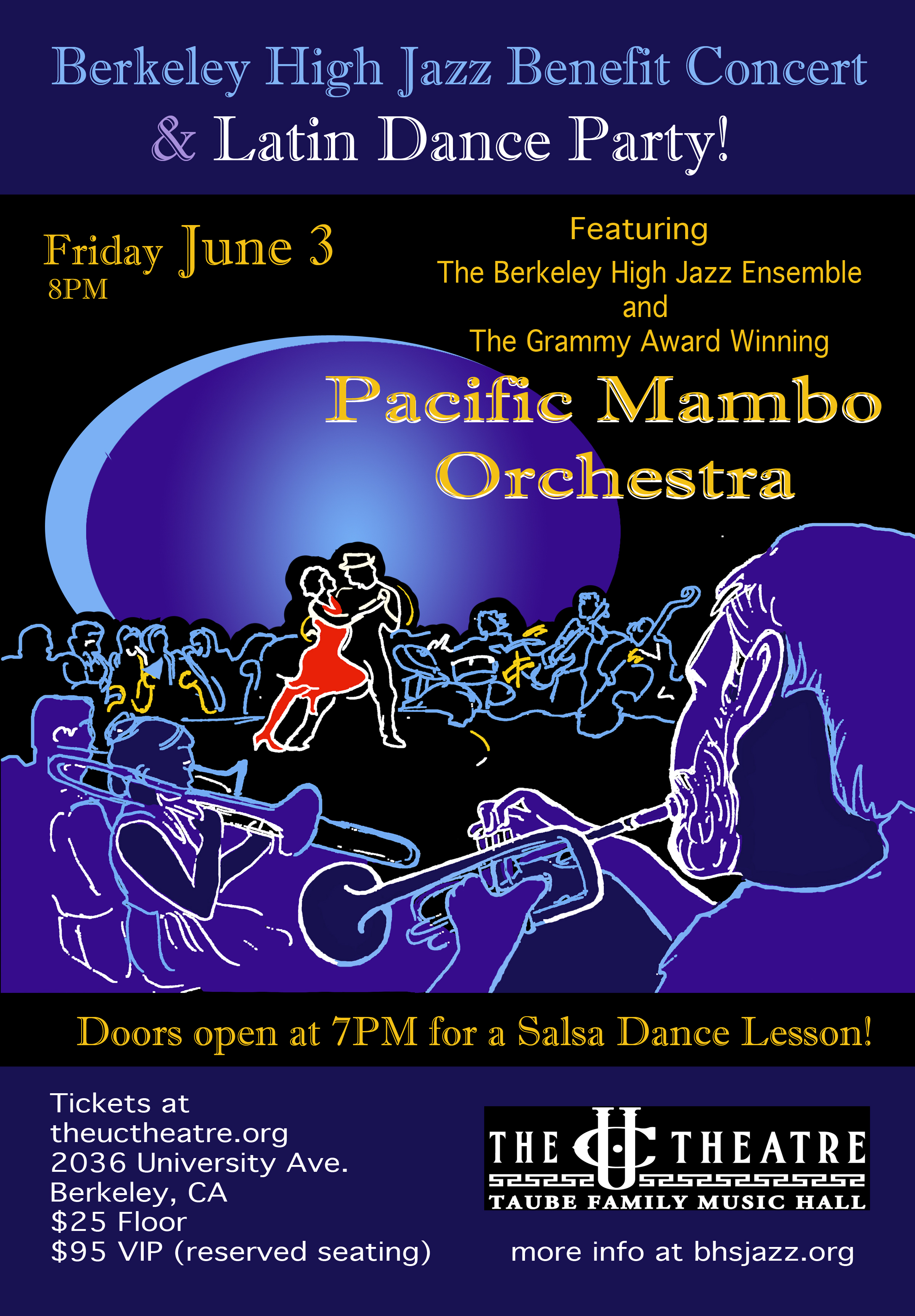 Pacific Mambo Orchestra Benfit Poster