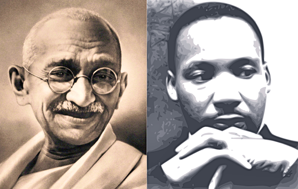 mahatma gandhi martin luther king and The legacy of mahatma gandhi, dr martin luther king and nelson mandela is that they were exemplars of fundamental belief that drivers of conflict are all amenable to non-violent solutions.