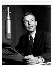 Phil Elwood in the old KPFA studio. 1960