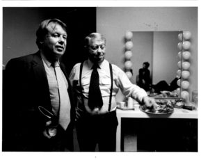 Backstage with Mel Torme. 1983