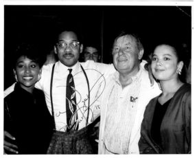 Jazz party in N.Y.C. with Wynton Marsalis. 1985