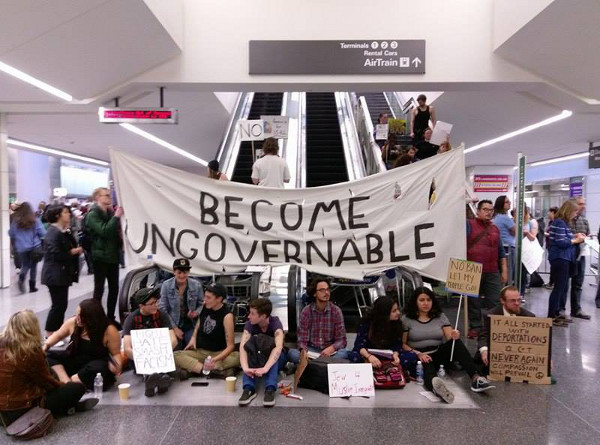Protest at the San Francisco International Airport