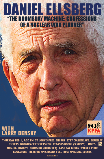DANIEL ELLSBERG: The Doomsday Machine: Confessions of a Nuclear War Planner @ St. John's Presbyterian Church | Berkeley | California | United States