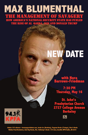 Max Blumenthal: The Management of Savagery @ St. Johns Presbyterian Church