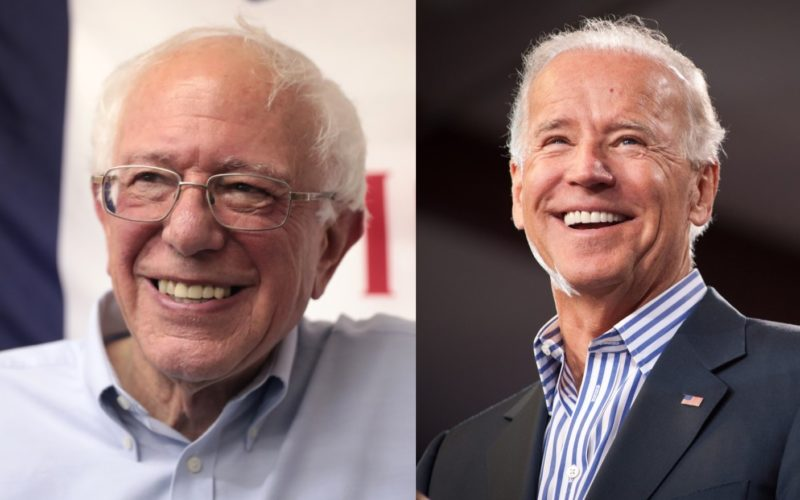 Photo of Bernie Sanders by Gage Skidmore. Photo of Joe Biden by Christopher Dilts for Obama for America