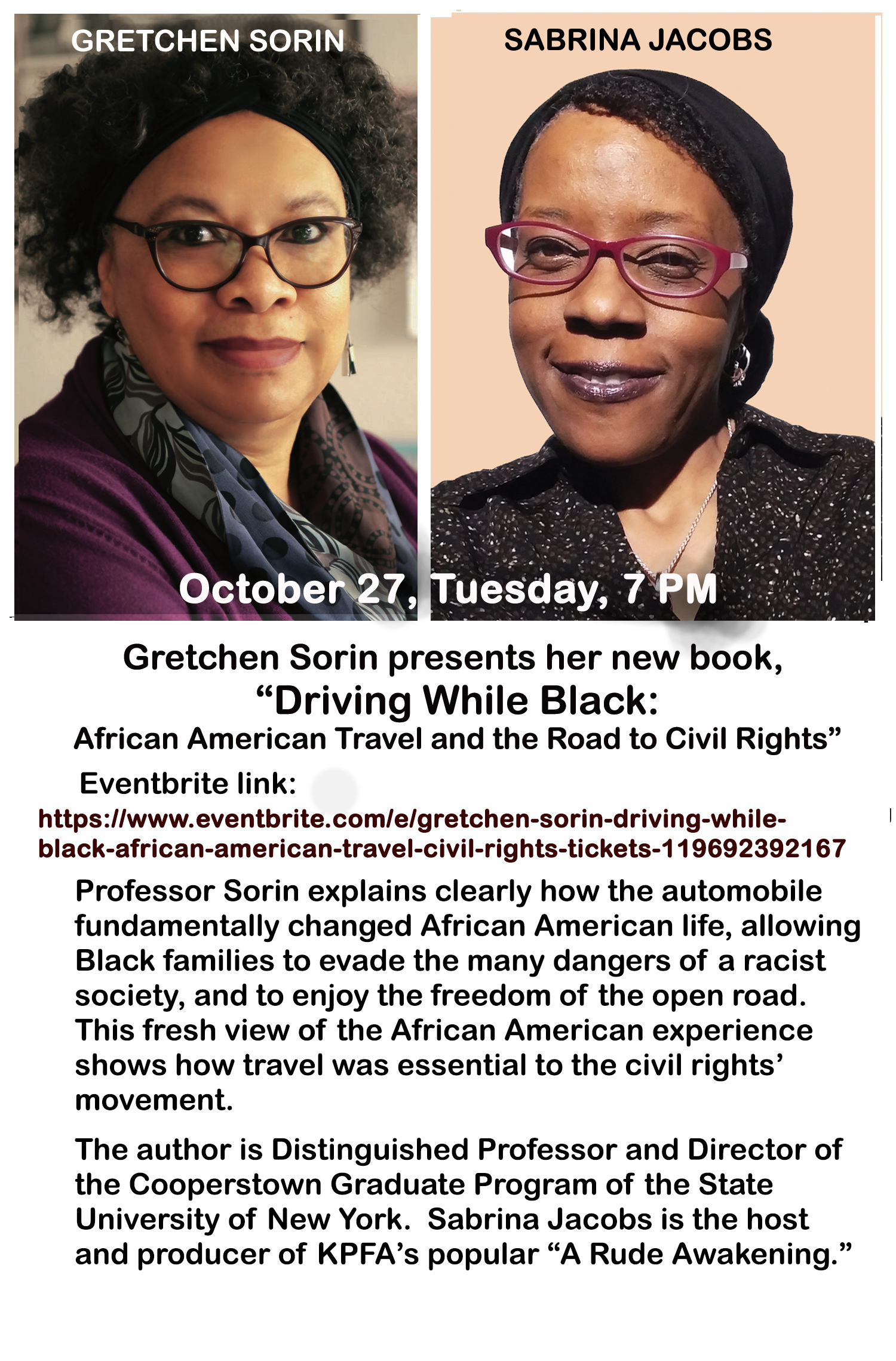 Gretchen Sorin: Driving While Black: African American Travel and the Road to Civil Rights